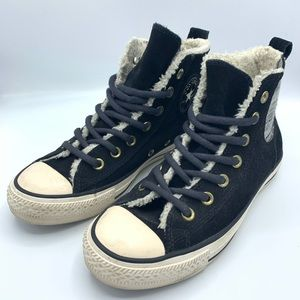Converse High Lace Up Faux Fur Insulated Sneakers